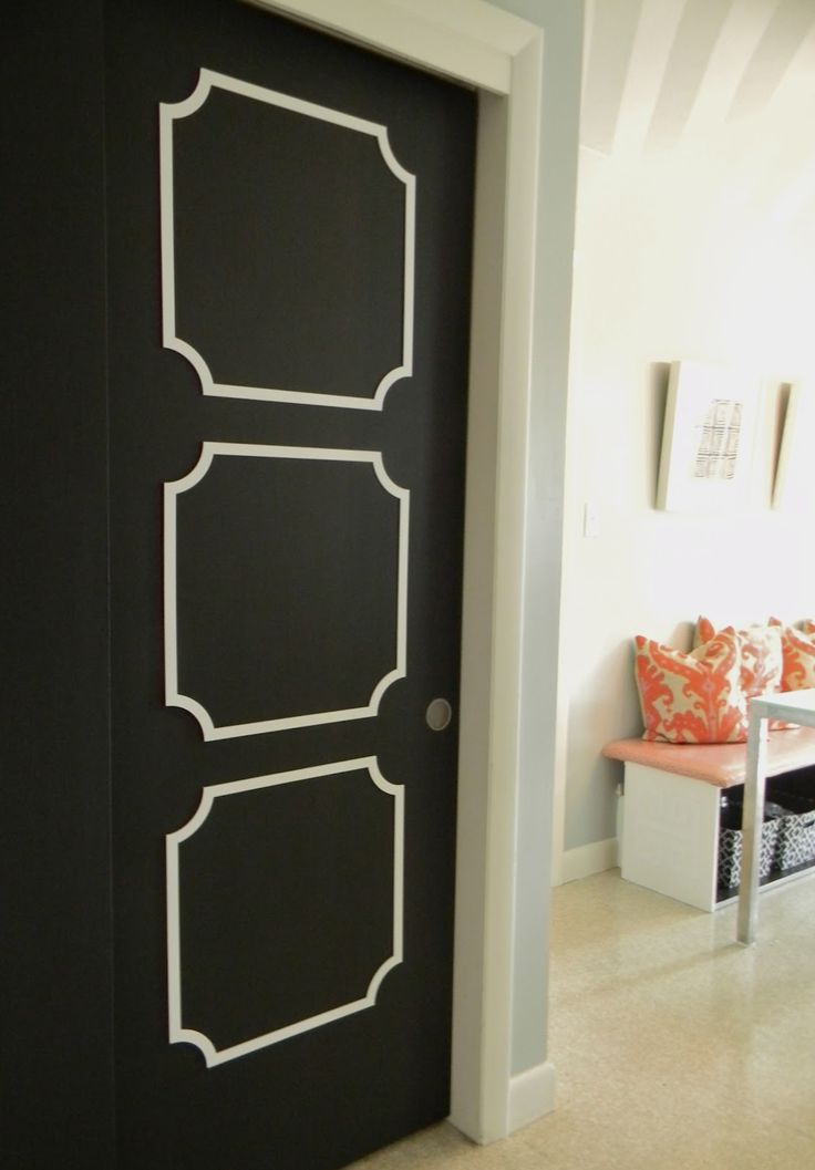 Overlays On A Plain Interior Door Or You Could Just Paint