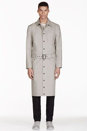 Adidas By Tom Dixon Grey Reversible Water Resistant Trench Coat for men | SSENSE