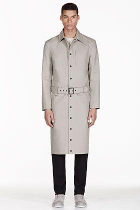 Adidas By Tom Dixon Grey Reversible Water Resistant Trench Coat for men   SSENSE