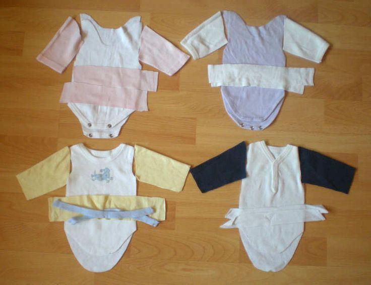 Návod a střih na přešití  bodýček pro nedonošená miminka - BabyKlokánci