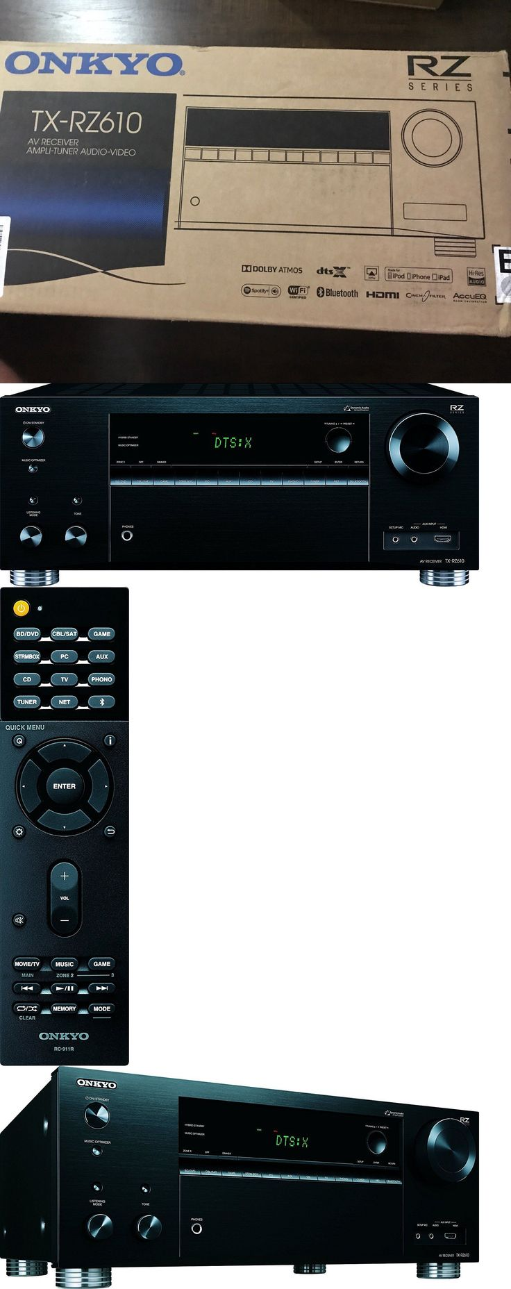 Home Theater Receivers: Onkyo Tx-Rz610 7.2 Channel Network A V Receiver Brand New!!! -> BUY IT NOW ONLY: $439.99 on eBay!