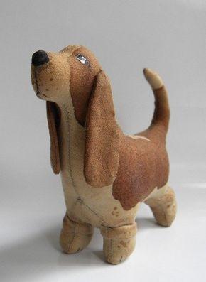Cachorro basset hound de tela