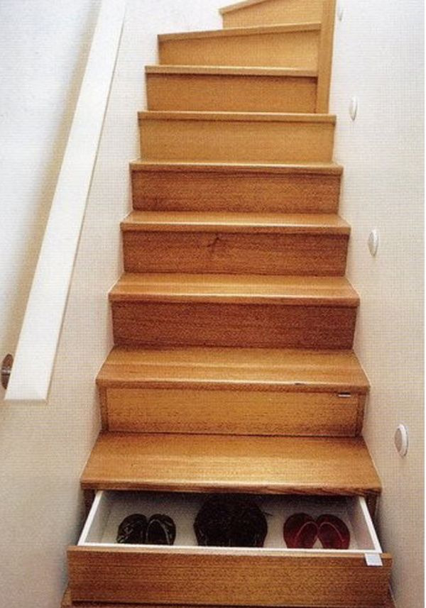 Cool idea to have drawers in your stairs.