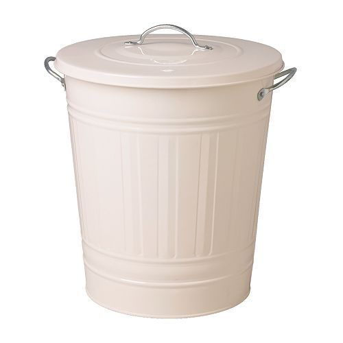 IKEA KNODD Bin with lid White 40 l Can be used anywhere in your home, even in damp areas like the bathroom and under covered balconies.