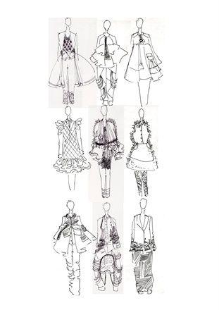 Fashion Sketchbook - fashion design drawings for graduate collection, fashion sketching // Karishma Shahani