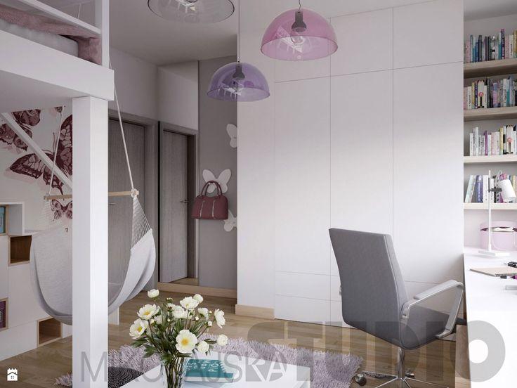 Pokój dla dziewczynki w brudnoróżowym kolorze - zdjęcie od MIKOŁAJSKAstudio - Pokój dziecka - Styl Vintage - MIKOŁAJSKAstudio