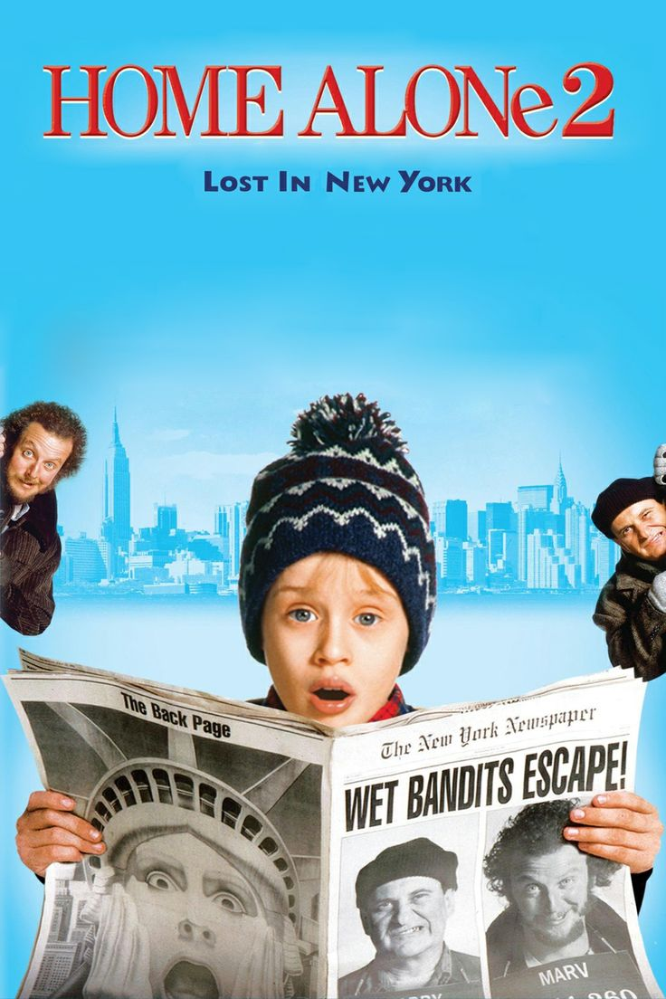 Home Alone 2: Lost in New York: One year after Kevin was left home alone and had to defeat a pair of bumbling burglars, he accidentally finds himself in New York City, and the same criminals are not far behind.  #movie