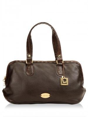 Hidesign Handbag With Metal Rivet Detailing by koovs.com