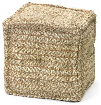 Hemp Boatyard Pouf - industrial - ottomans and cubes - Indeed Decor