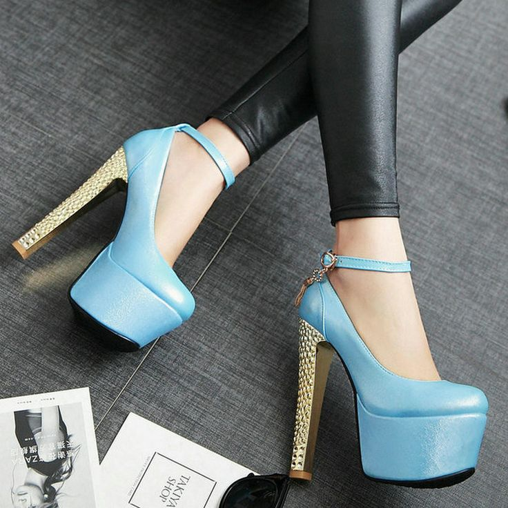 Ankle Strap HIgh ...  #buy it at  ReShop Store  here http://www.reshopstore.com/products/anlke-strap-high-heels-up-to-size-12?utm_campaign=social_autopilot&utm_source=pin&utm_medium=pin
