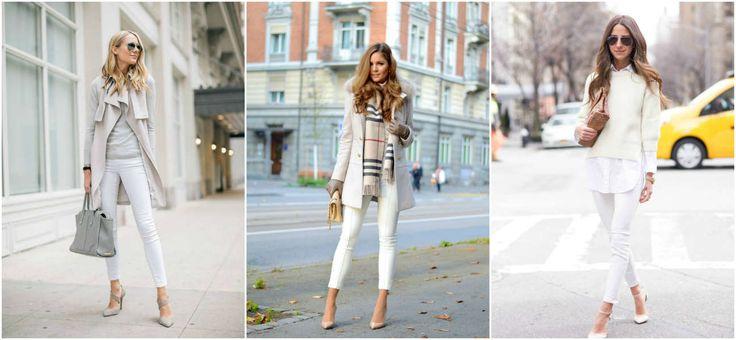 ¿Te da miedo usar blanco para tus jeans? ¿piensas que te verás demasiado monótona o lucirá como uniforme de enfermería? Estos tips te ayudarán a evitarlo