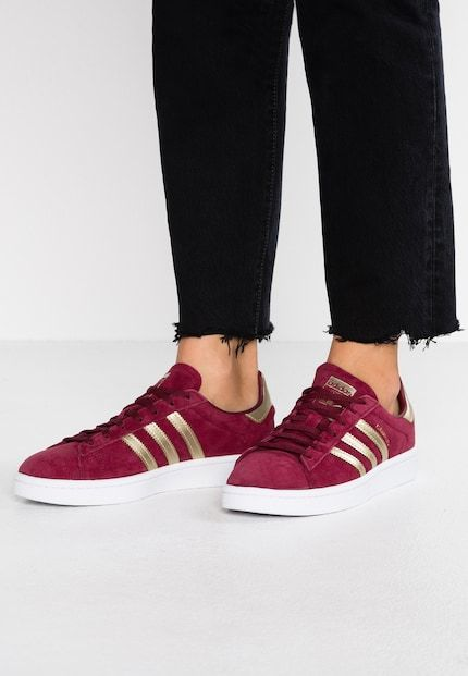 4fdcba598a CAMPUS - Sneakers - clear burgundy/gold metallic/footwear white | For me |  Gold adidas, Sneakers, Stella mccartney adidas