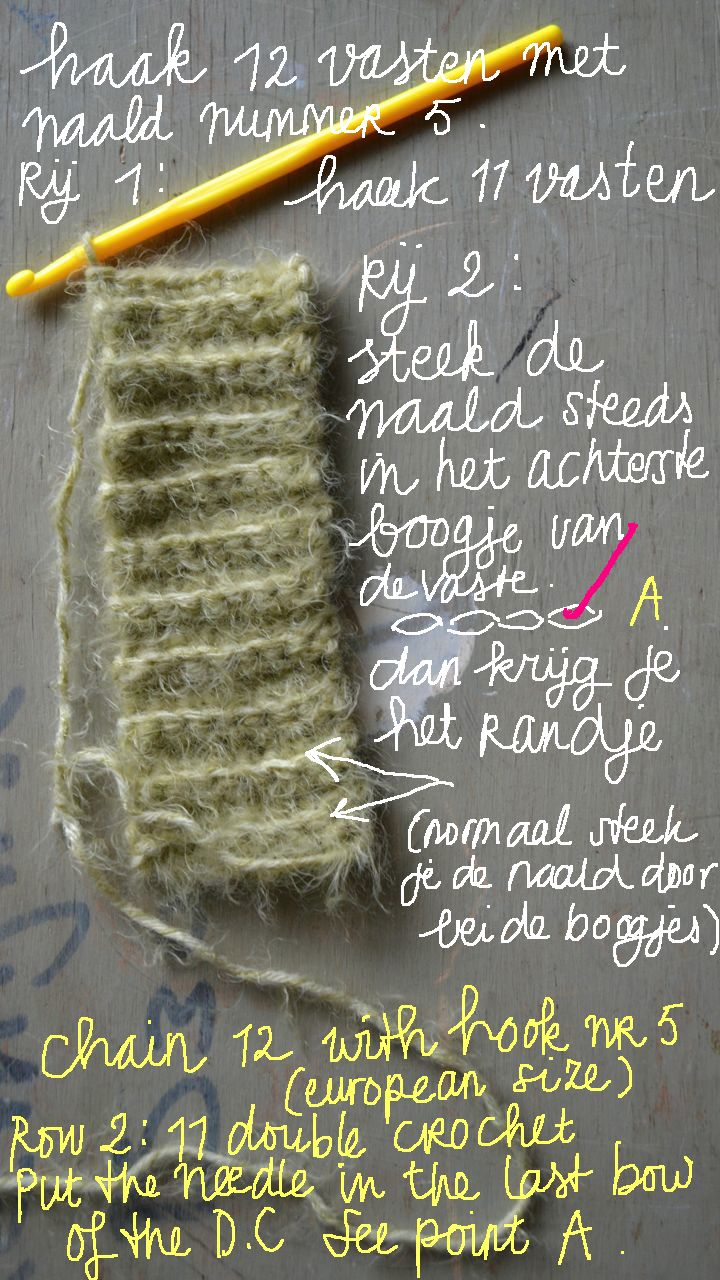 Free English (and Dutch) Tutorial crochet Mittens / gratis endless en Nederlandse tutorial hand warmers