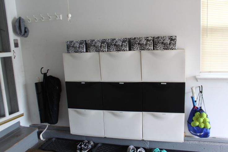 Organized Shoe Station for the Whole Family