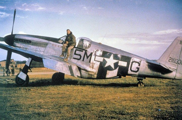 North American P-51C-5-NT Mustang (F-6C) Serial 42-103368 of the 15th TRS at St. Dizler Airfield (ALG A-64) France Autumn 1944. This aircraft was flown by Captain John H. Hoefker who used it to shoot down three enemy aircraft in June 1944. Captain Hoefker became the 10th Group's first Ace and finished the war with 8 air victories although he (unofficially) had 10.5 kills. This aircraft survived the war only to be scrapped on June 26 1946.