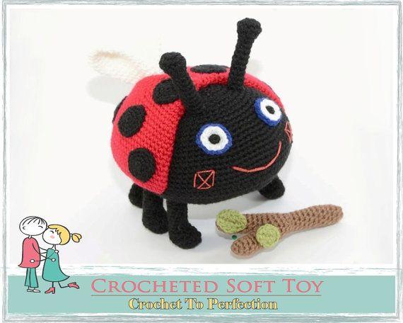 LARGE Gaston Ladybird Fetch The Stick Soft Toy by TatieSoftToys