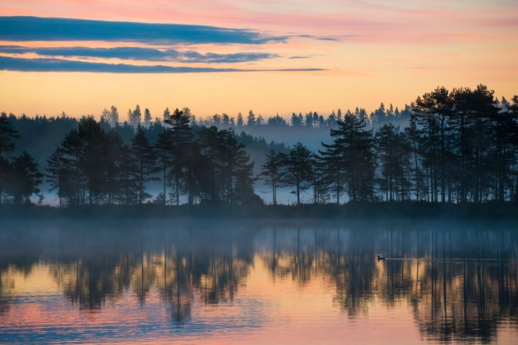 Wonderful morning - Early morning, lake Gimmen in Dalarna, Sweden.   Photo: Klas-Herman Lundgren