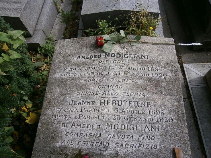 Jeanne Modigliani: Père Lachaise Tomba Di Amedeo Modigliani E Jeanne