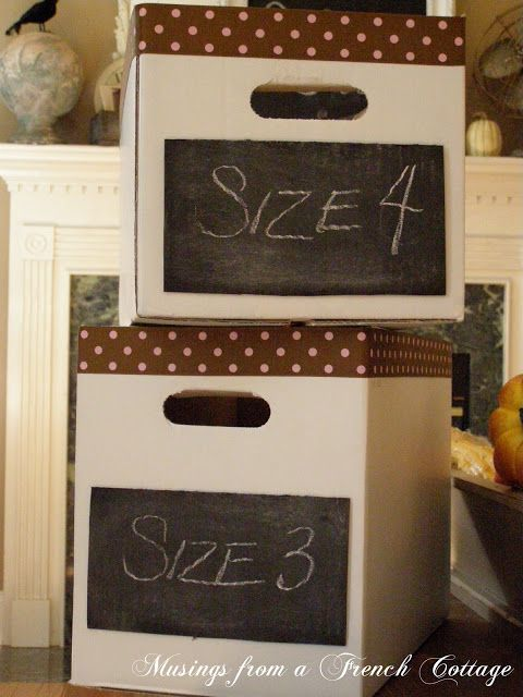 Musings From A French Cottage: Decorative Storage Boxes! (repurposed diaper boxes)