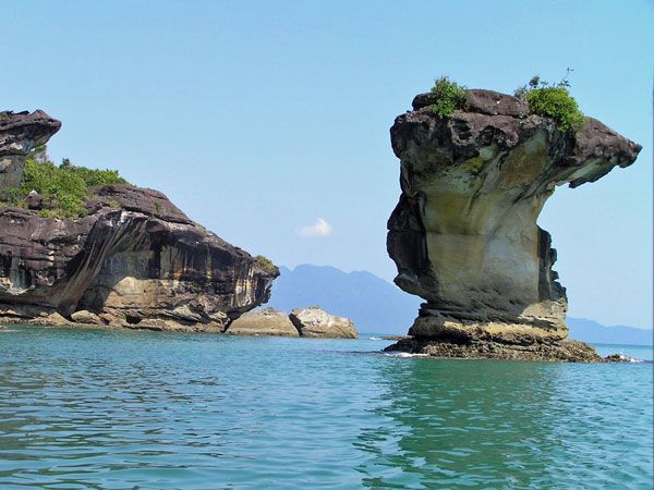 Bako National Park (pictured) is a very popular attraction in Kuching along with the Kuching Cat Museum, Fort Margherita, Mount Santubong and Sarawak State Museum.