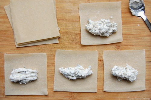 how to make dumplings with square wonton wrappers