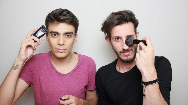 como fazer maquiagem masculina, maquiagem masculina básic a, cobrir olheiras, cobrir espinhas, make b, o boticário, youtuber, canal de beleza, alex cursino, moda sem censura, rodrigo perek