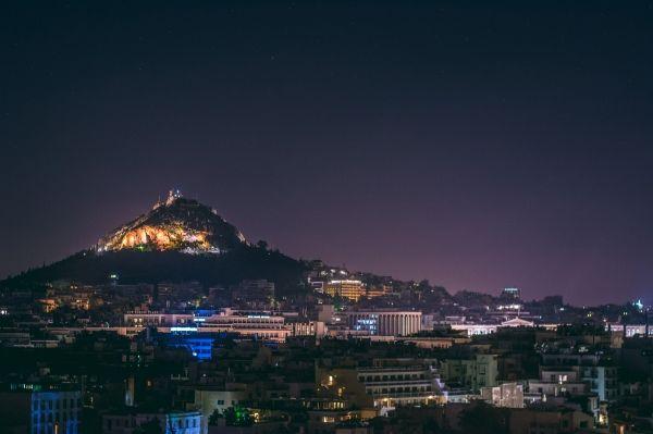 Night shot of Lycabettus Hill