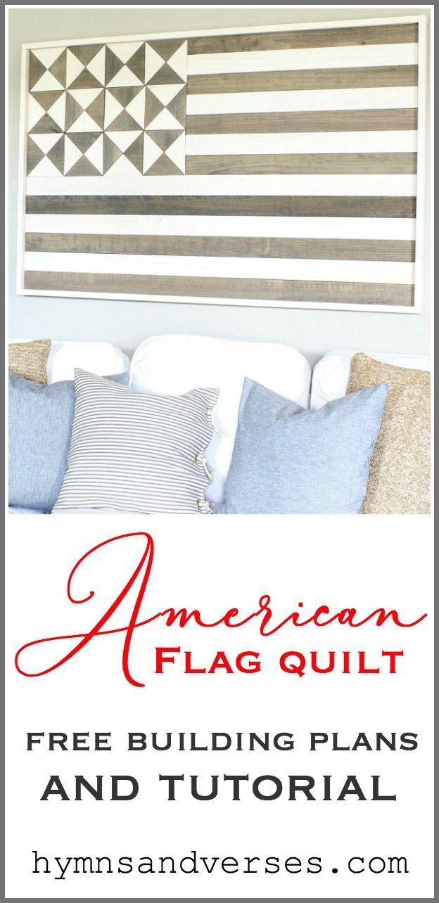American Flag Wood Quilt Wall Art American Flag Wood Wooden American Flag American Flag Quilt