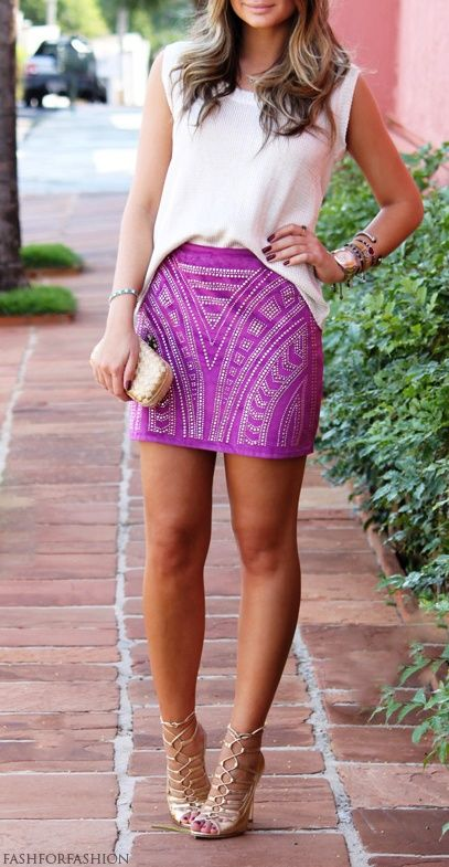 Gotta style my Sam skirt this way - maybe with yellow tank and blue suede heels?