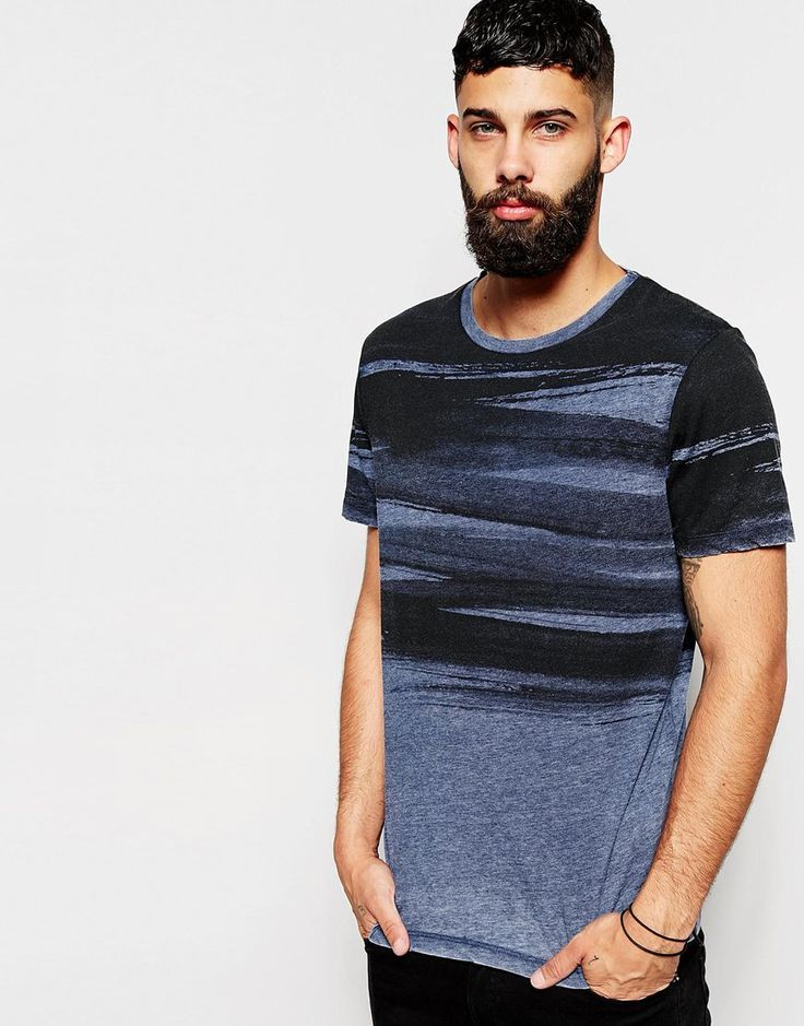 Image 1 of River Island Brush Stroke Print T-Shirt