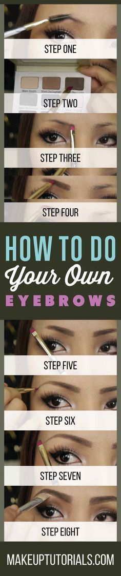 How To Shape The Perfect Brows | Tips For Doing Your Eyebrows Like A Pro By Makeup Tutorials. http://makeuptutorials.com/makeup-tutorials-how-to-do-your-own-eyebrows/ #contouringmakeup