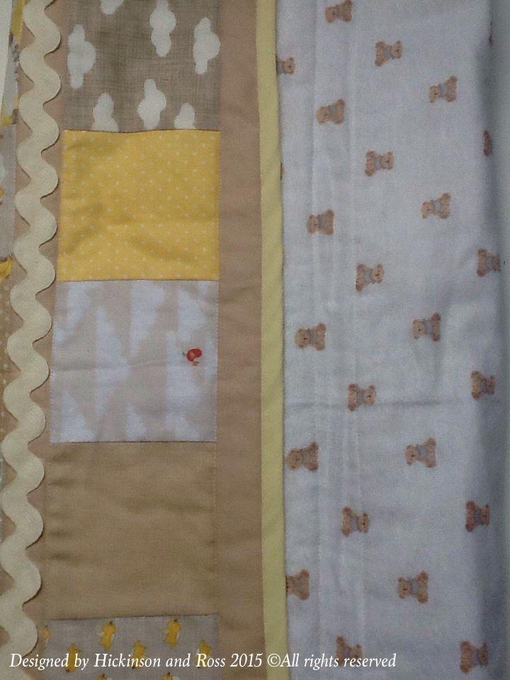 Teddy bear flannel back