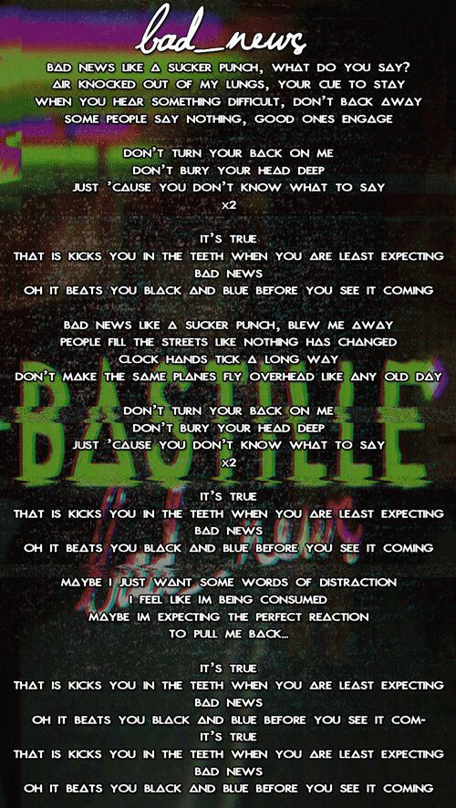 bastille lyrics silence