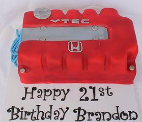Honda VTEC engine motor cake.... lmao too funny