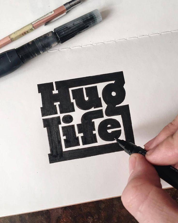 Hug life motherfucker. Type by @theaboarddude - #typegang - free fonts at typegang.com | typegang.com #typegang #typography