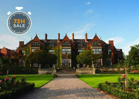HOAR CROSS HALL SPA HOTEL A luxury spa break at an imposing manor in Staffordshire, with breakfast, three-course dinner, a lunch and full spa access with classes