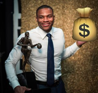 Russell Westbrook Net Worth 2017 - 205/5 = $41 Million  Russell Westbrook just signed the richest contract in NBA history. The Oklahoma City Thunder guard stopped talking to Kevin Durant after KD decided to join the Golden State Warriors but Westbrook should be thanking KD. Once Durant left Westbrook was able to show OKC how talented he is earning him a five year contract worth $205 million. (205/5 = $41 million!)  Russell Westbrook Net Worth as of 2017: $170 Million  The Thunder superstar's…