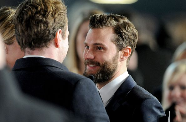 SUN NEWSPAPER OUT MANDATORY CREDIT PHOTO BY DAVE J HOGAN GETTY IMAGES REQUIRED Jamie Dornan attend the UK Premiere of 'Fifty Shades Of Grey' at Odeon...