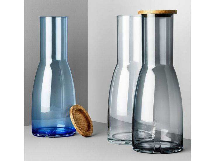 Bruk Carafes with Oak Lid - GLASSWARE - SCANDINAVIAN TABLE