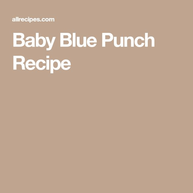 Baby Blue Punch Recipe