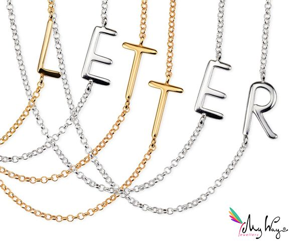 My Way Jewellery Necklace Letters