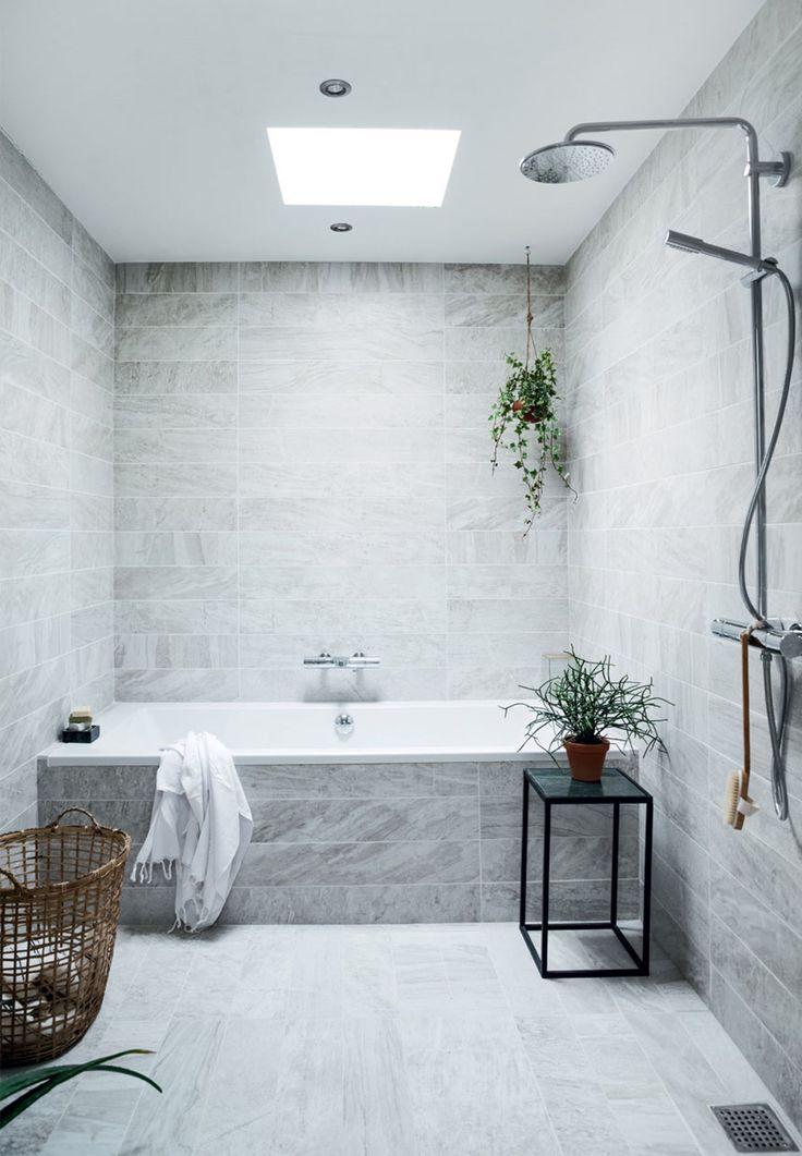 Contemporary Art Sites Velv rerum med smukke fliser Concrete BathroomConcrete ArtMarble BathroomsGrey BathroomsShower Over BathFamily BathroomBathroom WallWall TileDesign