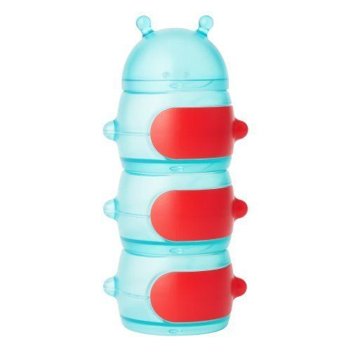 Boon Caterpillar Snack Stack Container,Green/Red by Boon $14.49