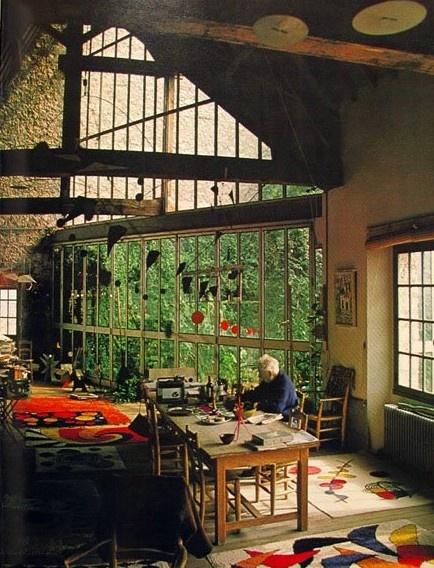 Alexander Ccalder studio