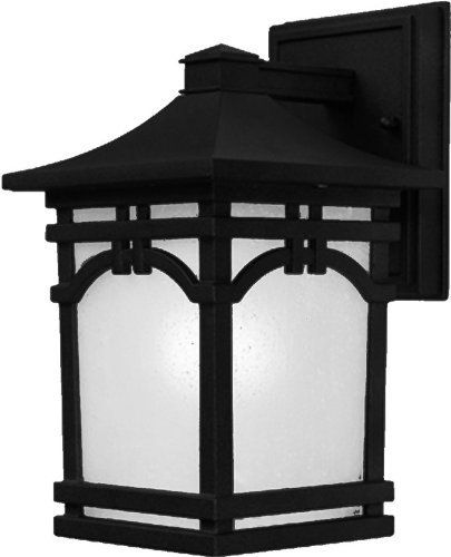 """Artcraft Lighting AC8051BK Courtyard Small Outdoor Wall Mount, Black by Artcraft. $100.80. From the Manufacturer                Courtyard small lantern-down. Outdoor wall mount with white glass in black finish. For over 50 years, ARTCRAFT has earned a reputation for excellence in home lighting products that is the envy of many companies in North America. ARTCRAFT is a """"family"""" owned business with many talented and skilled individuals, all dedicated to quality i..."""