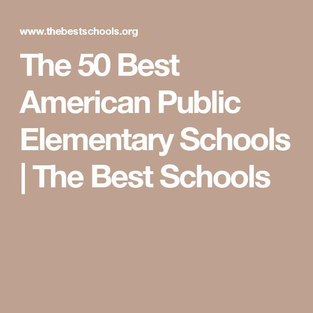 The 50 Best American Public Elementary Schools | The Best Schools