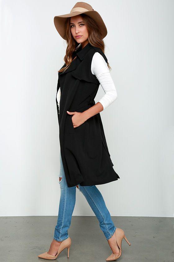 Best 25  Sleeveless coat ideas on Pinterest | Camel vests, Long ...