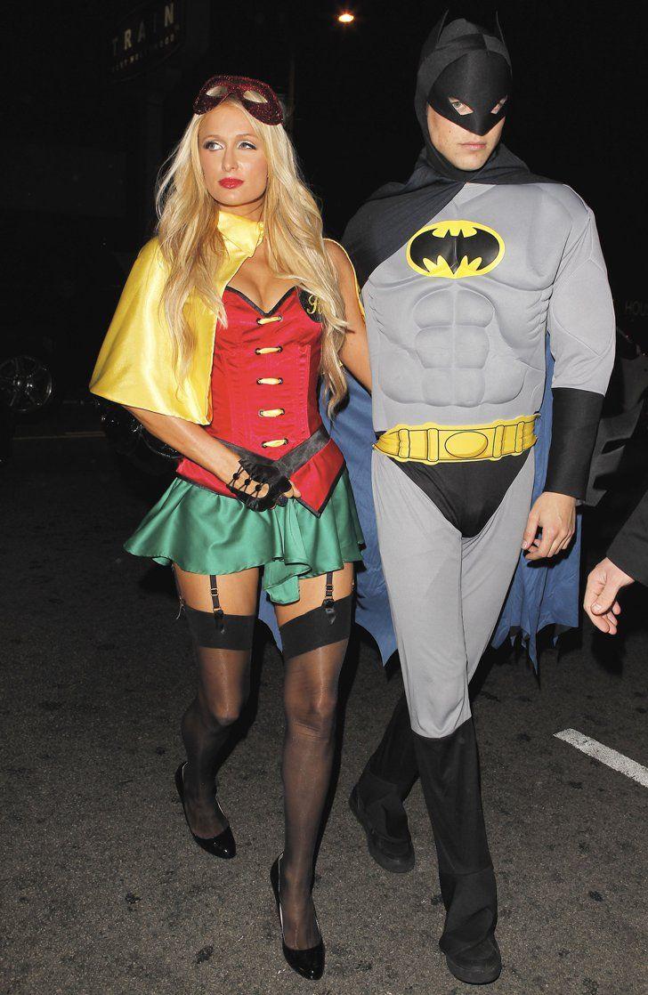 paris hilton and river viiperi as robin and batman   halloween