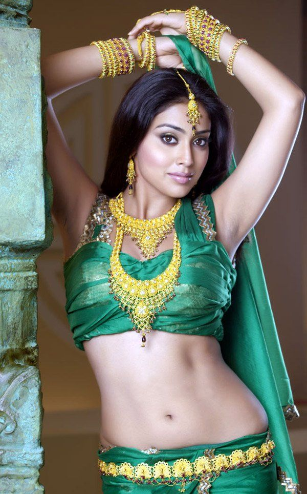 nice Actress Shriya Saran Hot Saree Collection Latest