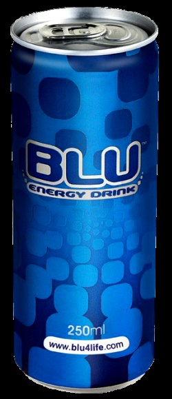 Red Bull vs Blu energy drinks